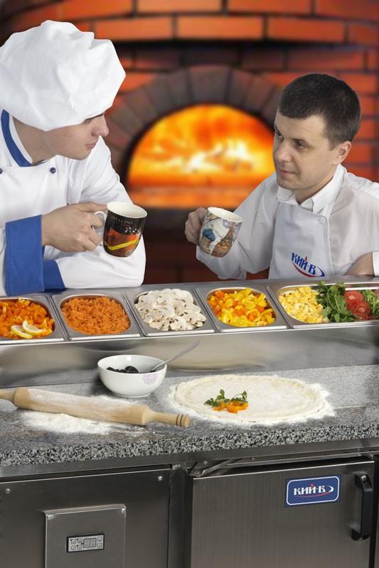 Холодильный стол с гранитной поверхностью КИЙ-В СХ-МБ 1500х700